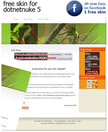 New CSS & XHTML skin for dotnetnuke
