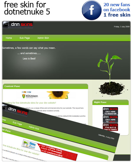 Enviro Skin for DNN facebook fans