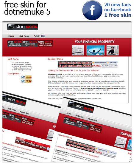 clean and compliant, nicely designed free dotnetnuke skin
